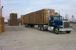 Our fleet of trucks is ready to deliver your load of pallets!