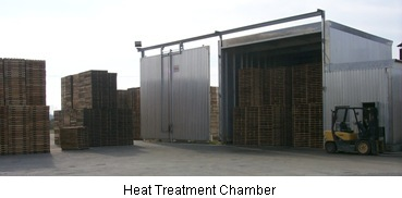 One of our heat treatment chambers